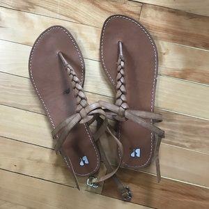 BP brown braided sandals
